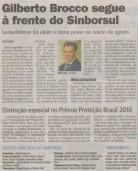 Gilberto Brocco, novamente, diretor do SINBORSUL